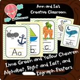 Lime Green and Yellow Chevron Alphabet, Right and Left, an