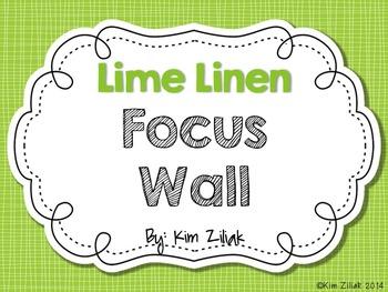 Lime Linen Focus Wall {White}
