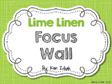 Lime Linen Focus Wall {White}