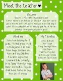 Lime Polkadot Meet The Teacher Template **Editable**
