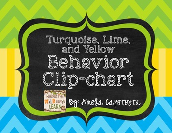 Lime, Turquoise and Yellow Behavior Clipchart