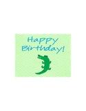 Lime and Aqua Beach Happy Birthday Postcard