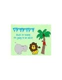 Lime and Aqua Jungle Back to School Postcard
