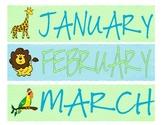 Lime and Aqua Jungle Calendar Toppers