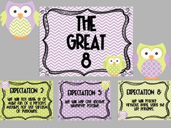 Lime and Lavender Owl Great Expectation Posters