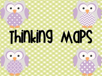 Lime and Lavender Owl Thinking Maps