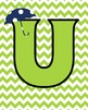 Lime and Navy Alphabet Posters