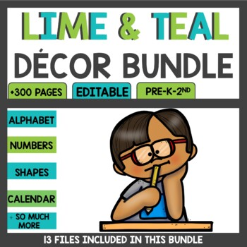 Class Decor Bundle Lime and Teal