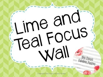 Lime and Teal Focus Wall
