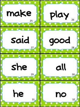 Lime and Turquoise Polka Complete Word Wall- HMH Journeys KINDERGARTEN