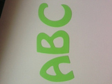 """Lime green alphabet 2"""" 78 pcs"""