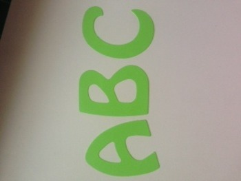 "Lime green alphabet 2"" 78 pcs"