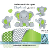 Lime green elephant clipart gray clipart