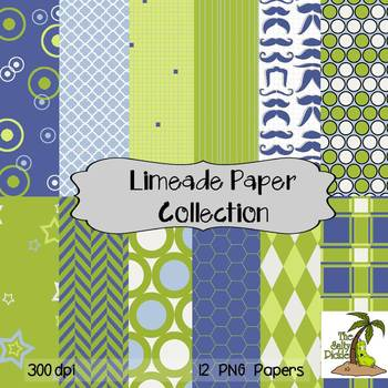 Limeade Paper Collection