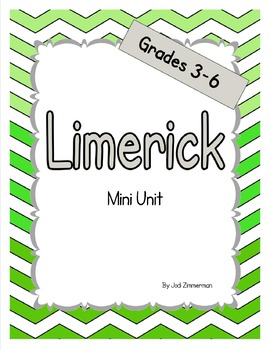 Limerick Poetry Mini Unit