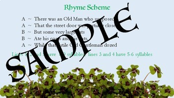 Limerick Poetry Activity for St. Patrick's Day!