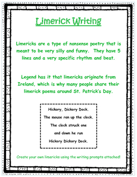 Limerick Writing - St. Patrick's Day
