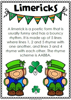 Limericks for St Patrick's Day - {BrE Version}