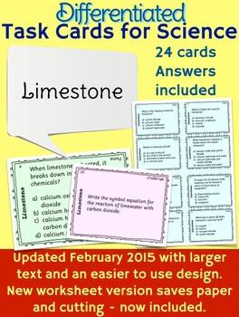 Limestone Task Cards