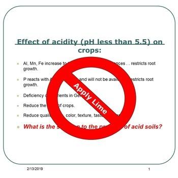 Liming acid soils