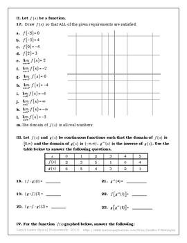Limit Laws Spiral Homework