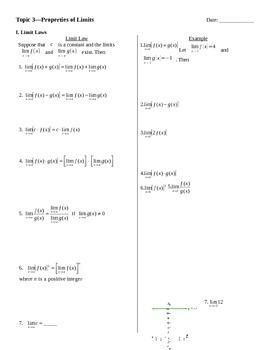 Limit Properties Notes