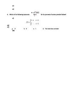 Limit Quiz
