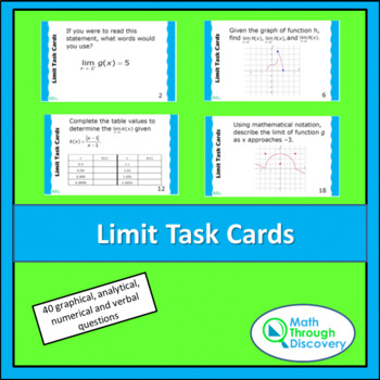 Calculus:  Limit Task Cards