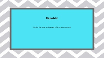 Limited Government: Principles of the Constitution