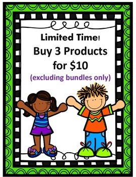 Limited Time!  Buy 3 Products for $10  (excluding bundles only)
