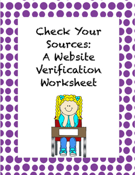 Limited Time FREE Teaching Students to Verify Their Online Sources