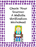 Teaching Students to Verify Their Online Sources