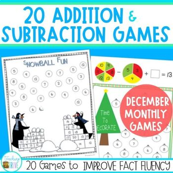 Addition and Subtraction Games - December