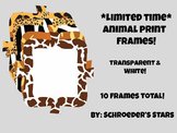 *Limited Time Freebie!* Animal Print Frames!