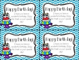 Birthday Tags and Homework Passes