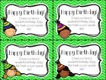 Birthday Tags and Homework Passes