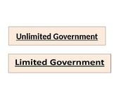 Limited & Unlimited Government Card Sort