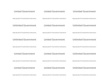 Limited & Unlimited Government Task Cards: Differentiate Between