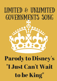Limited and Unlimited Governments Parody to I Just Can't W