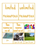 Limited and Unlimited Resources Sort for Earth Day Lessons