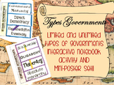 Limited and Unlimited Governments Lesson, Flipbook AND Poster Set