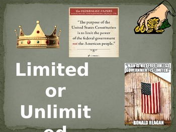 Limited or Unlimited Government PPt Quiz