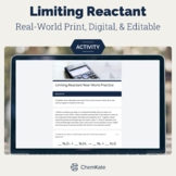 Limiting & Excess Reactant (Reagent) Real World Themed Wor