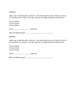 Limiting Reagent Practice