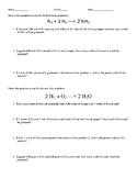 Limiting Reagent and Percent Yield (mol-mol)