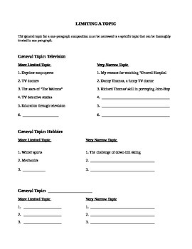Limiting a Topic Activity