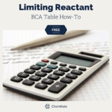 FREE: Limiting and Excess Reactants/Reagents: BCA Table How To