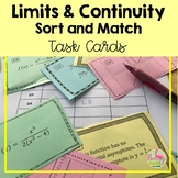 Calculus Limits and Continuity Sort Match Activity (Unit 1)