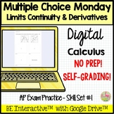 Limits Continuity and Derivatives for Google Forms™ Distan