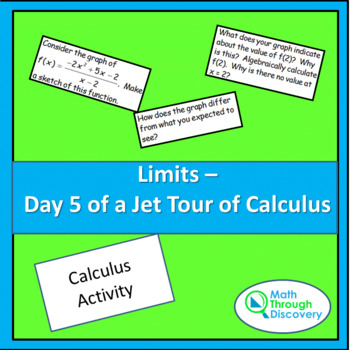 Limits - Day 5 of a Jet Tour of Calculus